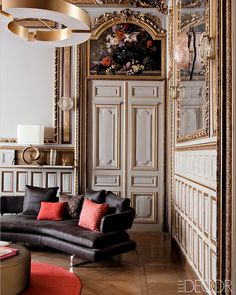 French gray and gold boiserie