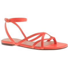 J.Crew Pilar sandals ($70) ❤ liked on Polyvore featuring shoes, sandals, flats, zapatos, chaussure, j crew flats, leather sandals, flats sandals, strap sandals and summer flats