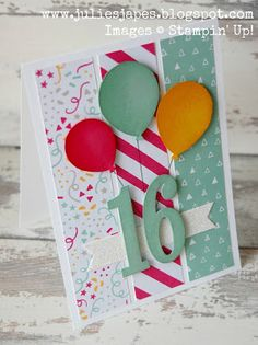 Julie Kettlewell - Stampin Up UK Independent Demonstrator - Order products 24/7: Sweet 16