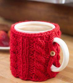 Cabled Mug Cozy
