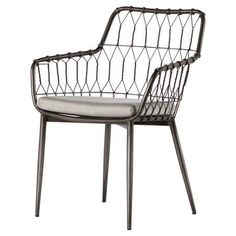 Kade Iron Rattan Outdoor Dining Chair
