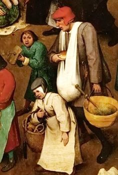 Pieter Bruegel de Oude Sad Fight Between Carnival and Lent (detail)
