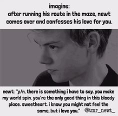 ♥ Of course I feel the same way, Newt.