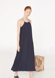 PREMIUM - Long pleated dress