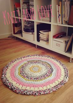 ALFOMBRA TRAPILLO MULTICOLOR CROCHET CON TRAPILLO/T-SHIRT YARN CARPET