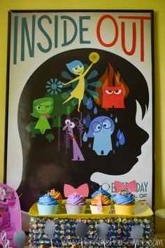 Inside Out cupcake tutorial for an Inside Out party