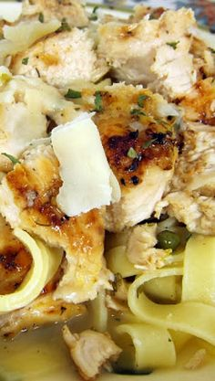 Grilled Chicken Piccata Pasta