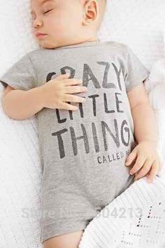 Crazy little thing short-sleeved cotton romper