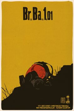As we prepare to bid farewell to Breaking Bad, let's revisit the key images of episodes from long ago—and not so long ago—with these episode posters by Francesco Francavilla. Breaking Bad Episode 1, Breaking Bad Season 1, Breaking Bad Tv Series, Breaking Bad Poster, Mad Men, Comic Book Artists, Comic Books, Comic Art, Heisenberg