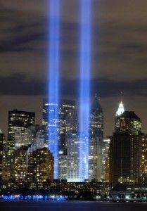 My view almost 10 years ago with my senior class. It was very emotional to be there and see these lights in person. RIP to all those who lost their lives on 9-11-01