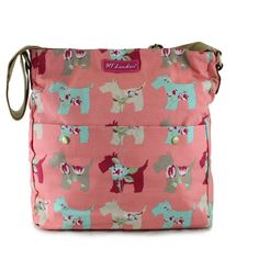 NEW SCOTTIE DOG PINK CANVAS CROSSBODY MESSENGER BAGS – GIFTS