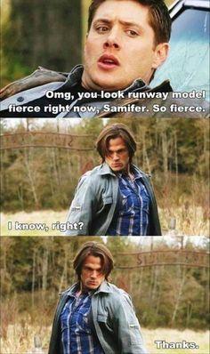 Runway model #dean #sam #supernatural