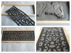 Schrit für Schritt Anleitung Beton Platten mit Ornament