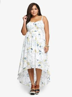 Floral Tank Dress.......would be a great alternative to a white wedding dress