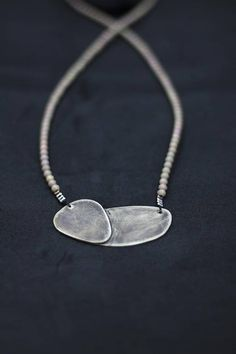 ooak contemporary necklace oxidised german alpaca pendant Contemporary Jewellery, Wearable Art, Dog Tag Necklace, German, Pendant, Silver, Jewelry, Deutsch, Jewlery