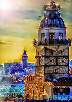 A View of Galata Tower from Kizkulesi