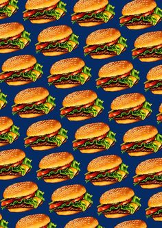 """""""Cheeseburger 3 Pattern"""" by Kelly Gilleran Food Wallpaper, Wallpaper Backgrounds, Perspective Photography, Scrapbook Templates, Aesthetic Iphone Wallpaper, Cute Food, Aesthetic Pictures, Pattern Wallpaper, Cute Wallpapers"""