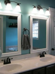 Bathroom Mirror Placement look! closet turned into small bathroom | tiny bathrooms, powder