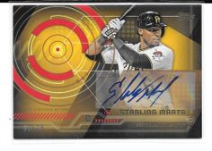 2014 Topps Trajectory auto Starling Marte Pittsburgh Pirates S/N 09/10 # TA-SM #PittsburghPirates