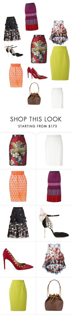 """""""Skirt Style..**"""" by yagna ❤ liked on Polyvore featuring Dsquared2, Armani Collezioni, Daizy Shely, Proenza Schouler, Sacai, Sophia Webster, Valentino, Philosophy di Lorenzo Serafini, Versace and Etro"""