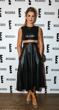Hell for leather: Also putting in a fashionable appearance at the event was model and pres...