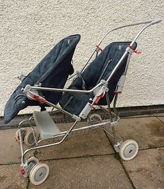 Silvercross Wayfarer Tandem Double Twin Buggy Vintage Pram, Retro Vintage, Double Twin, Prams And Pushchairs, Dolls Prams, Baby Buggy, Baby Prams, Baby Carriage, Baby Furniture