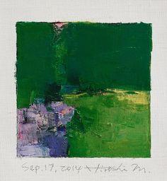 original abstract art oil painting 9x9painting hiroshi matsumoto