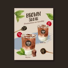 Discover the best Vectors, Photos & PSD files from Photographeeasia - Free Graphic Resources for personal and commercial use Bubble Tea Menu, Bubble Milk Tea, Tea Illustration, Watercolor Illustration, Watercolor Food, Milk Tea Recipes, Tea Design, Tea Brands, Tea Box