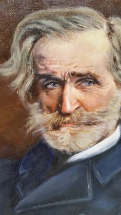 Detail of Commissioned painting of G. Verdi