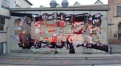 by Robert Proch aka TONE - New mural - for Urban Art Festival - Winterthur, Switzerland - Sept 2014