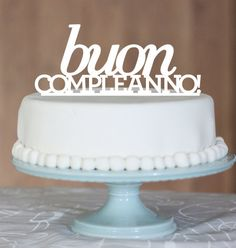 Buon compleanno! Italian birthday cake available