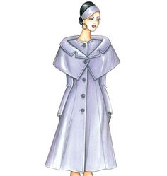 F3480, Marfy Coat with capelet. Wonderful Italian pattern for experienced sewists.