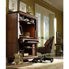 riverside american crossings computer armoire fawn cherry