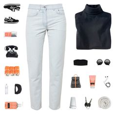 """""""Midnight // Tag"""" by bosspresident ❤ liked on Polyvore featuring Woolrich, New Balance, Acne Studios, Monki, Christian Dior, Grafea, Neutrogena, Diane Von Furstenberg, Linea and Brixton"""