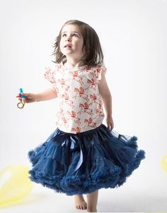 Carmen wears Candy Bow Tutu in Navy. Available to buy now at www.our-kid.co.uk