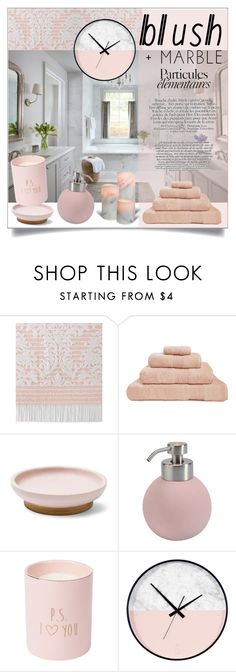 """Blush&Marble Bathroom"" by anemone-ci ❤ liked on Polyvore featuring interior, interiors, interior design, home, home decor, interior decorating, Hamam, Aquanova, bathroom and homedecor"