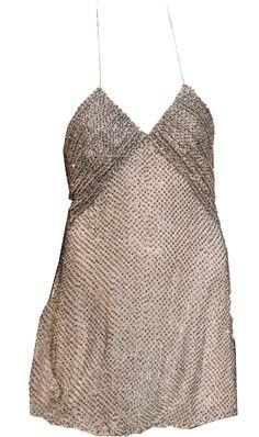 Saint Laurent Fully Embellished Slip Dress