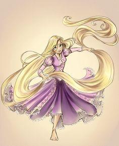 Rapunzel Colored by sharkie19 on deviantART