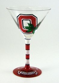 Ohio State martini glass. I so need this before football season starts.