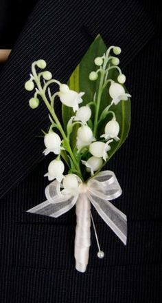Real Touch Natural lily of the Valley boutonniere,Wedding Bridal Groom Prom