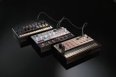 Beats, Bass, Keys - a drum machine, a bass synth, and a lead synth, analog and $150 each. Now with MIDI.