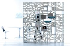 ESEDRA DESIGN - DOMINO - Libreria design struttura in lamiera piegata - STUDIO BATONI http://www.esedradesign.it/product.asp?id=30#