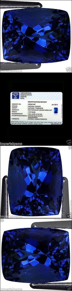 Tanzanite 4195: 3.02 Ct Igi Certified Aaa Natural D Block Tanzanite Blue Violet Cushion Cut -> BUY IT NOW ONLY: $999.99 on eBay!