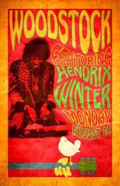Vintage Music Art Poster - Woodstock Jimmy Hendrix - 0273 – The Vintage Music Poster Shop Hippie Style, Hippie Art, Hippie Life, Vintage Music Posters, Vintage Advertising Posters, Retro Posters, Poster Vintage, Vintage Prints, Festival Posters