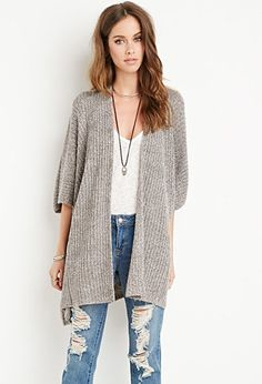 Draped Open-Front Cardigan   Forever 21 - 2000174866