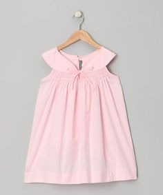 Take a look at this Pink Honeycomb Smocked Yoke Dress - Infant & Toddler by Les Petits Soleils by Fantaisie Kids on #zulily today!