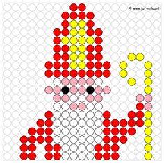 Afbeeldingsresultaat voor patronen strijkkralen sinterklaas Diy Perler Beads, Pearler Beads, Diy For Kids, Crafts For Kids, Arts And Crafts, Hama Beads Patterns, Beading Patterns, Melting Beads, Saint Nicholas