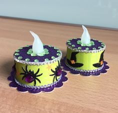 Halloween Tea Light Cakes (made by Kim)