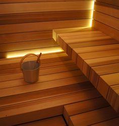 Sauna Lights, Modern Saunas, Spas, Piscina Spa, Sauna Seca, Sauna Design, Design Design, Interior Design, Natural Swimming Pools