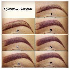 Eyebrow tutorial credit: @fashionpassion  @tutorialssss